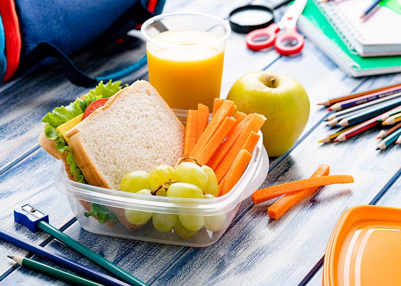 lanche saudável para a escola