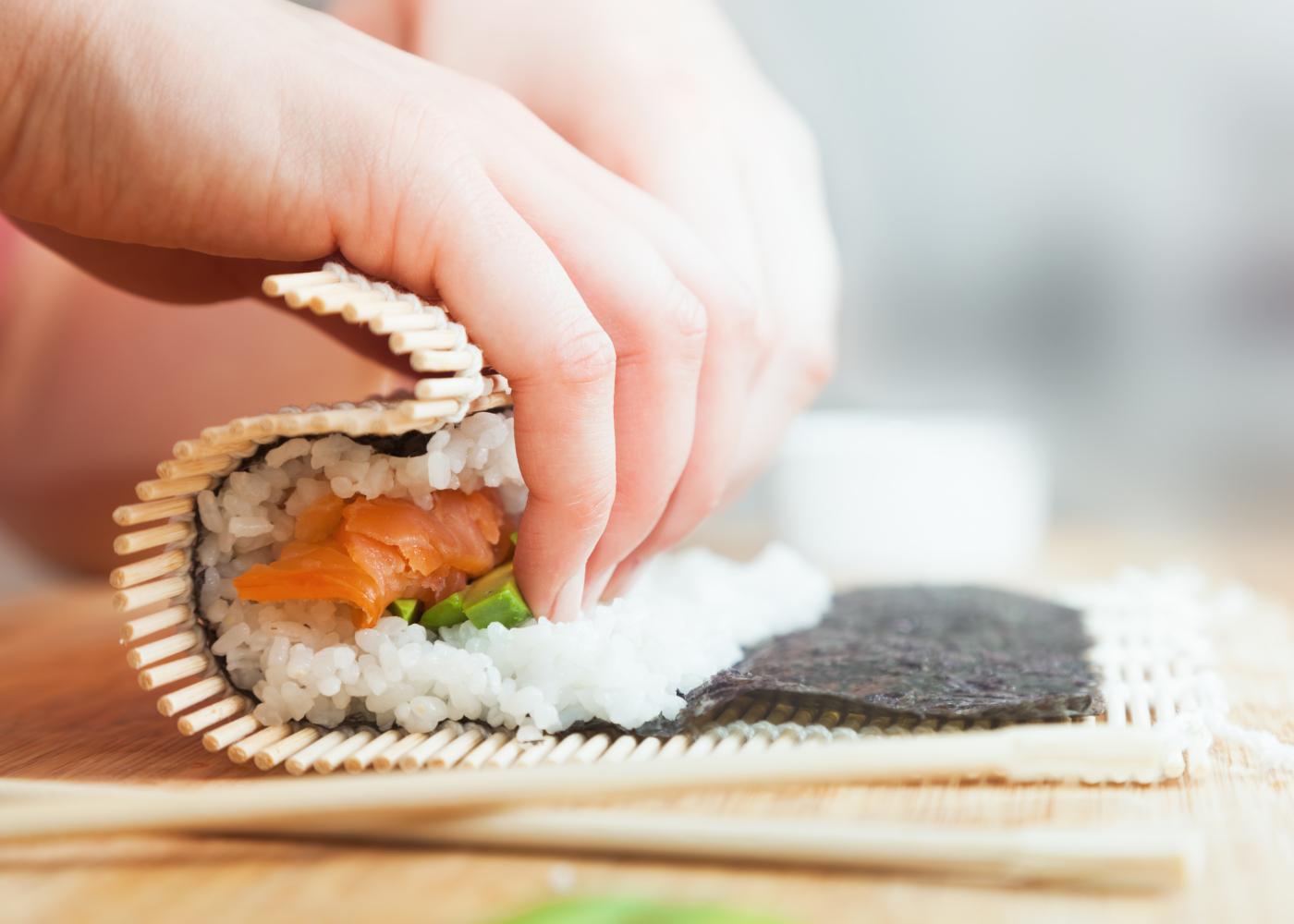 montagem sushi