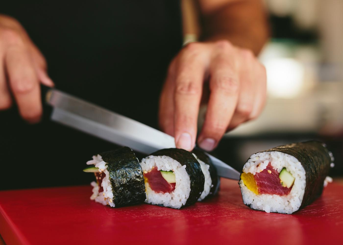peças de sushi