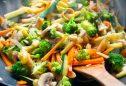 método e tempo de confeção ideais de legumes e leguminosas: saltear