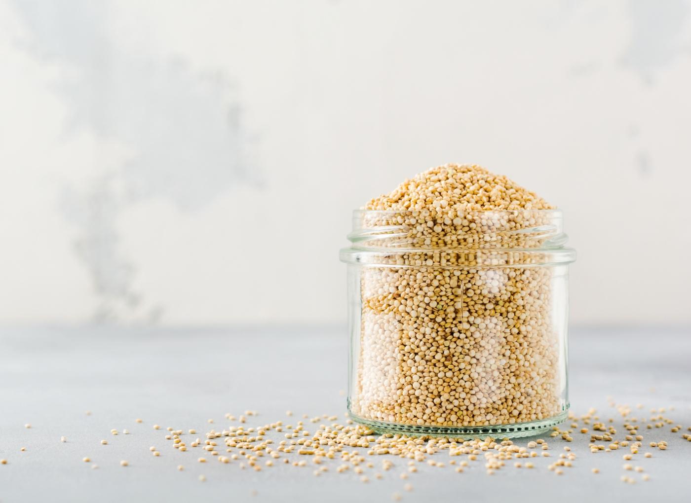 Frasco com quinoa