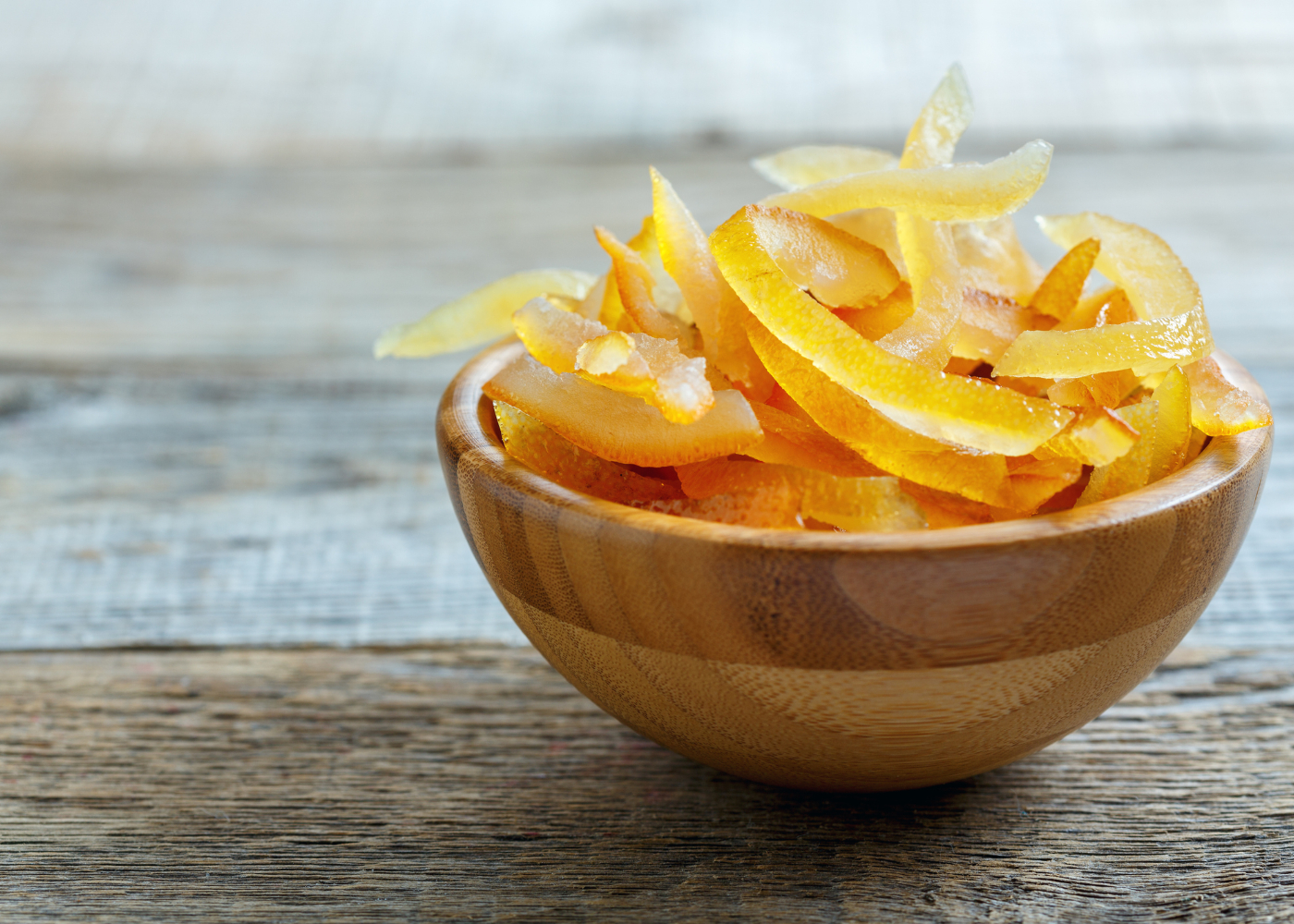 laranja cristalizada tigela fruta cristalizada