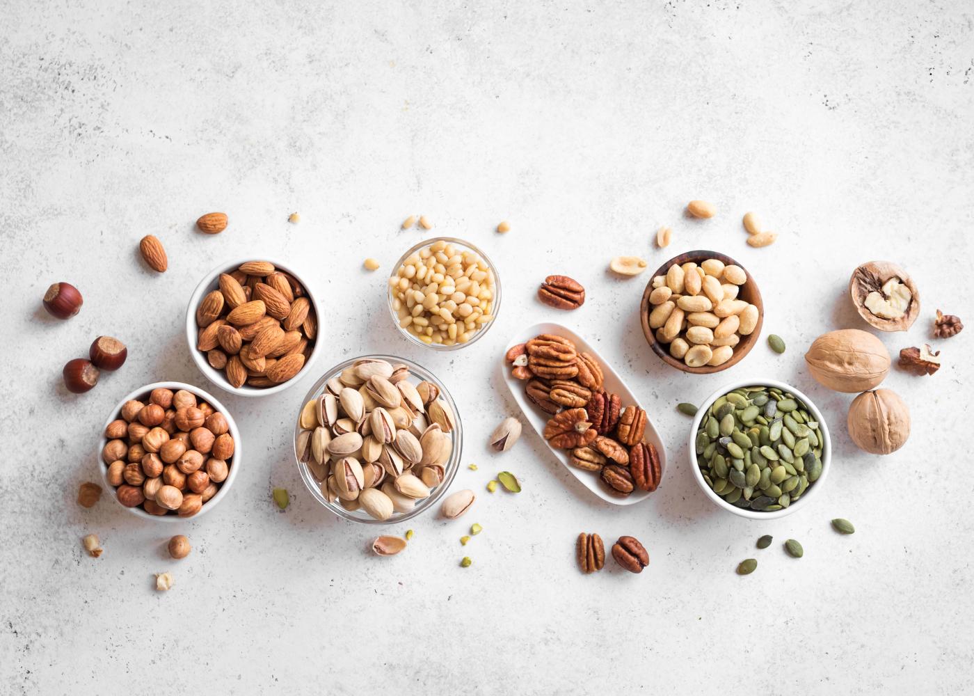 alimentos ricos em proteina frutos oleoginosos