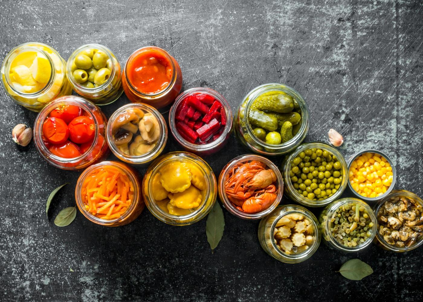 Conservas e enlatados: alimentos em conserva