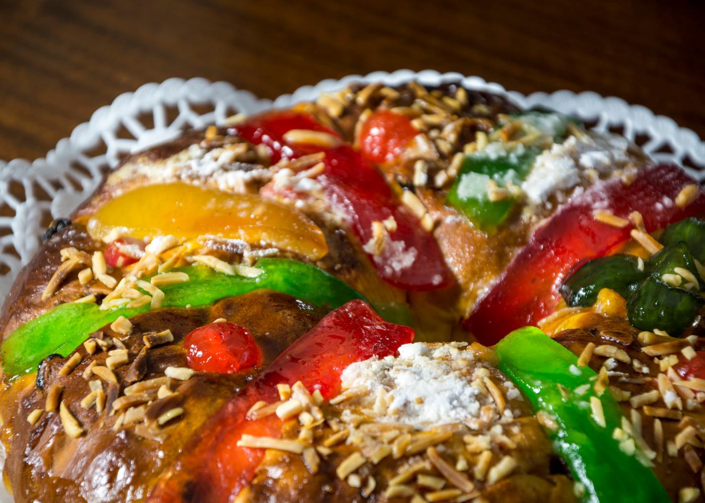 bolo rei com frutas cristalizadas