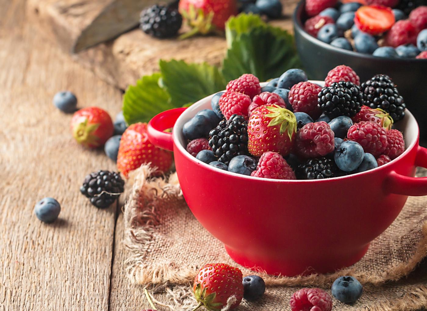 Taça com frutos silvestres