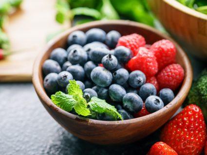 Taça com frutos vermelhos