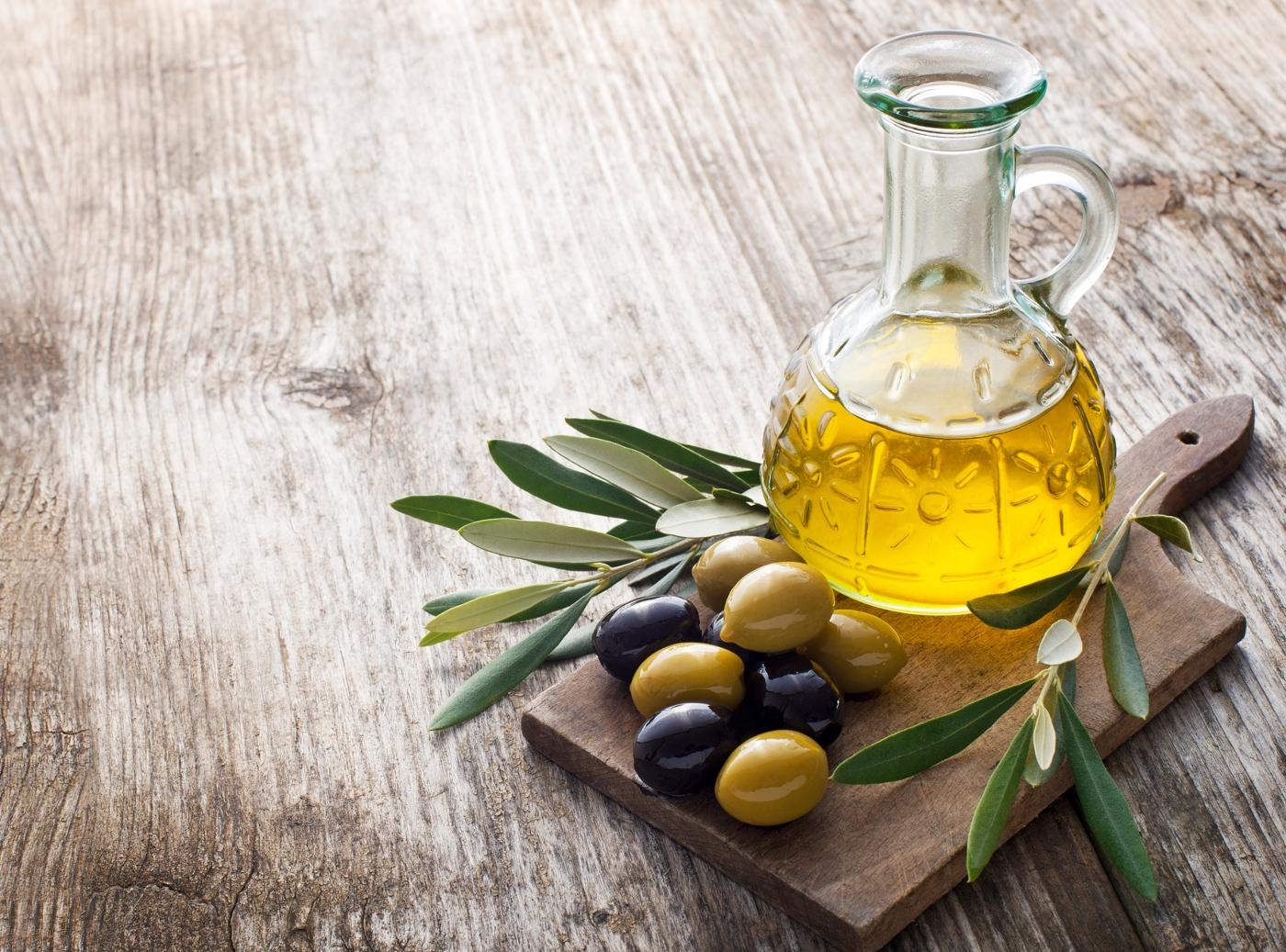 alimentos sem açucar: azeite