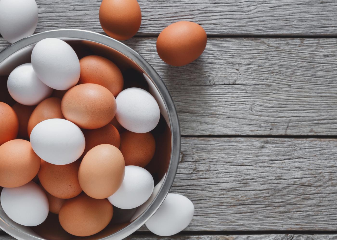 Taça com ovos