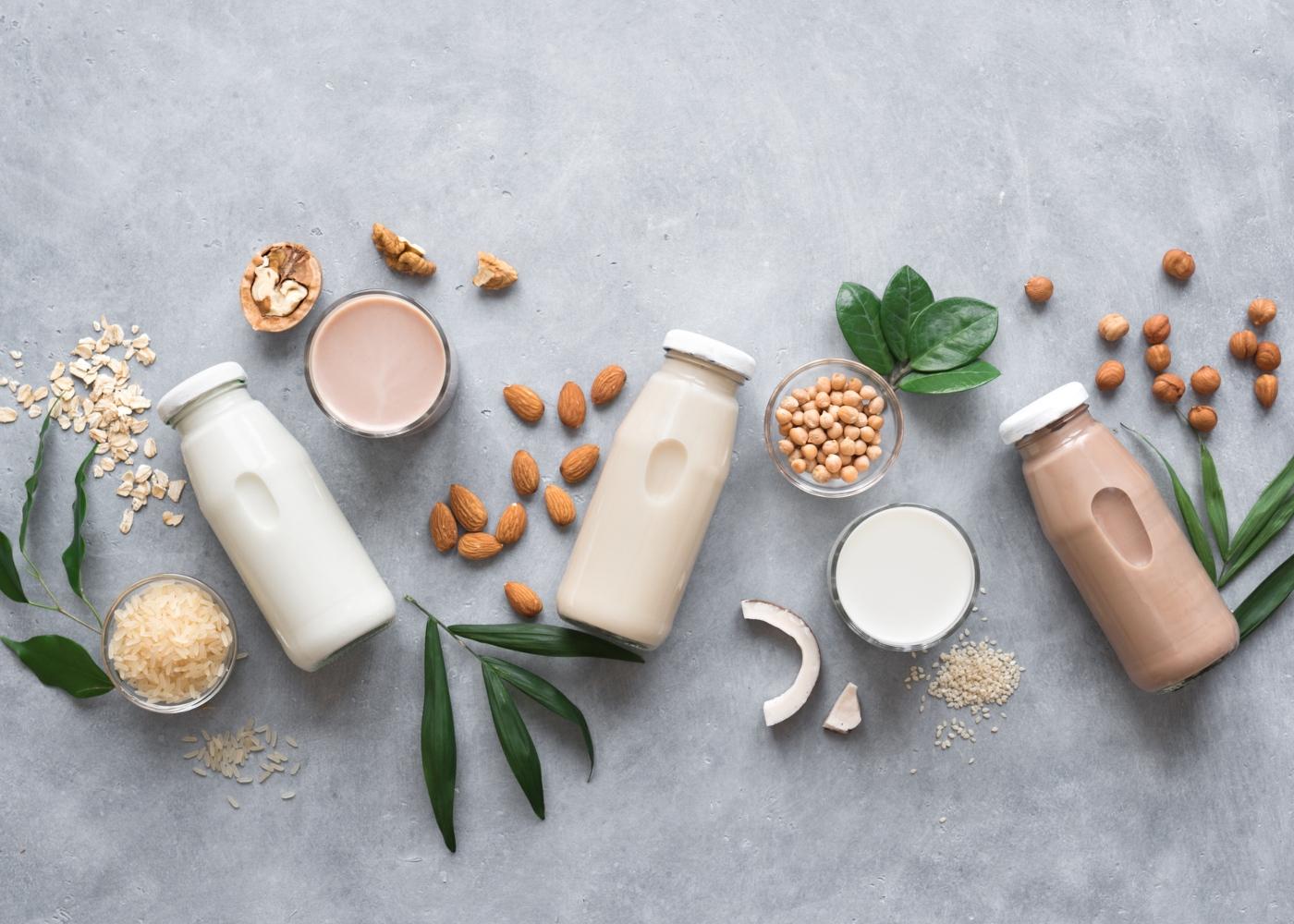 Leite vs bebidas vegetais: leite de coco, amêndoa, soja