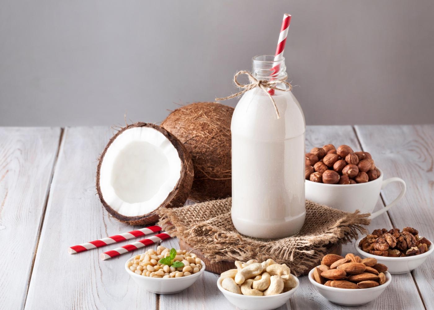 Leite vs bebidas vegetais: leite de coco