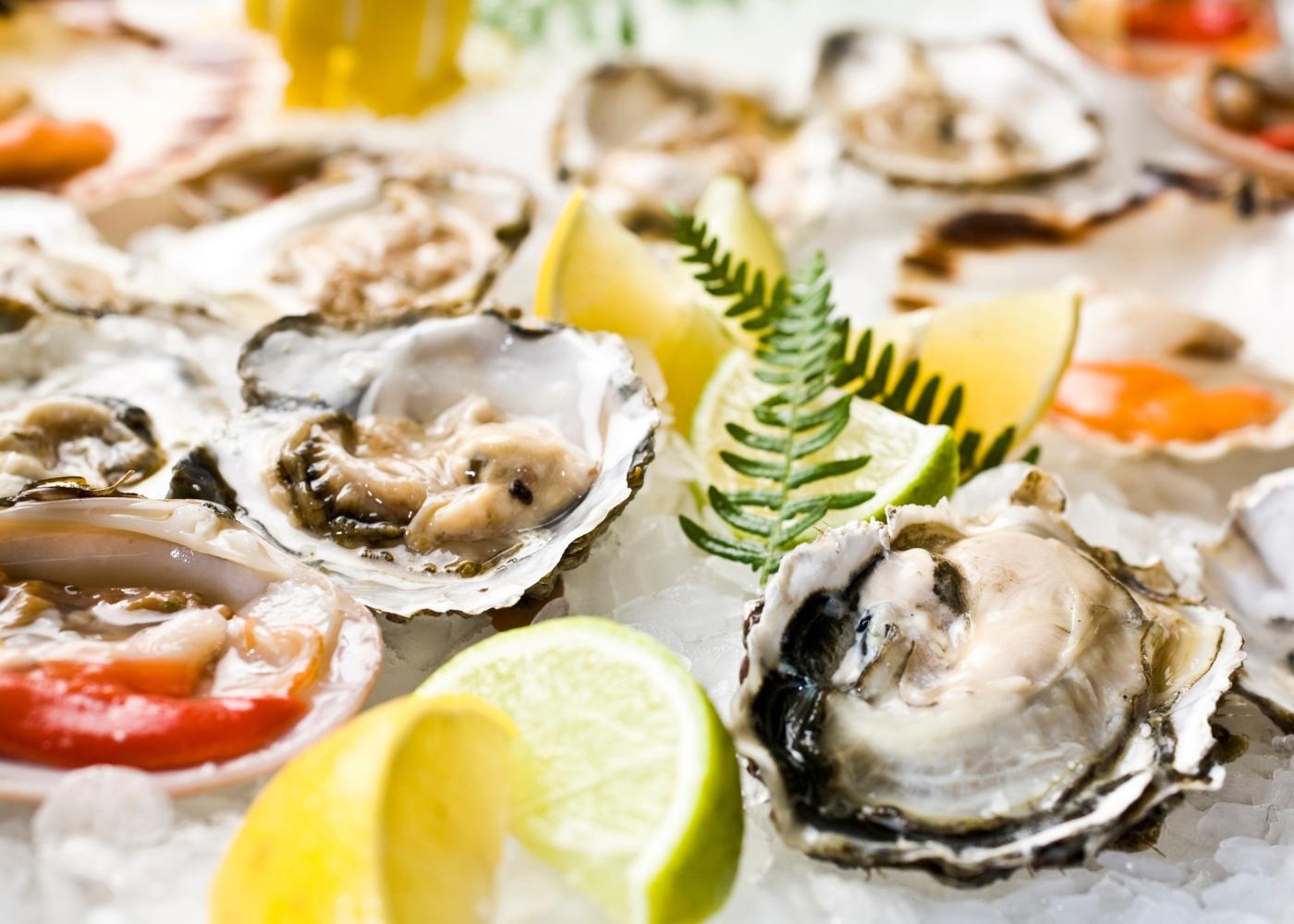 Alimentos ricos em zinco: ostras