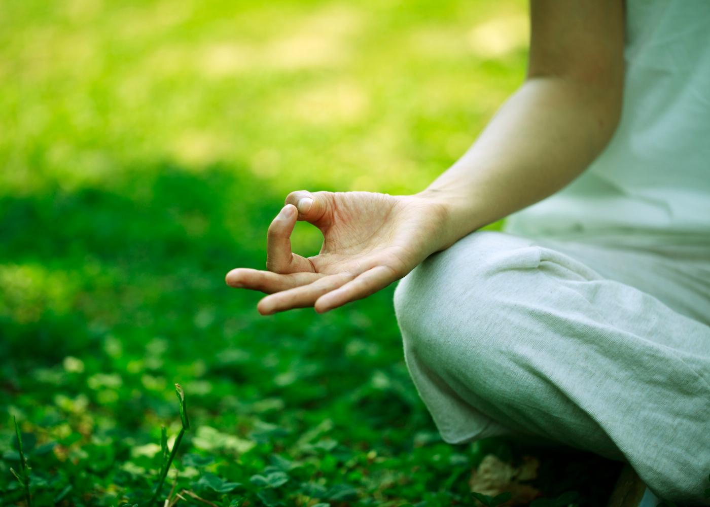 fazer meditação no jardim