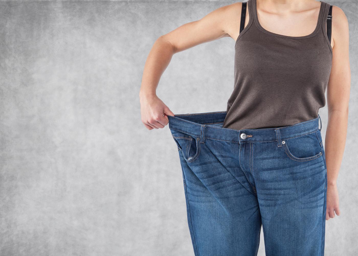 massa gorda mulher com perda de peso
