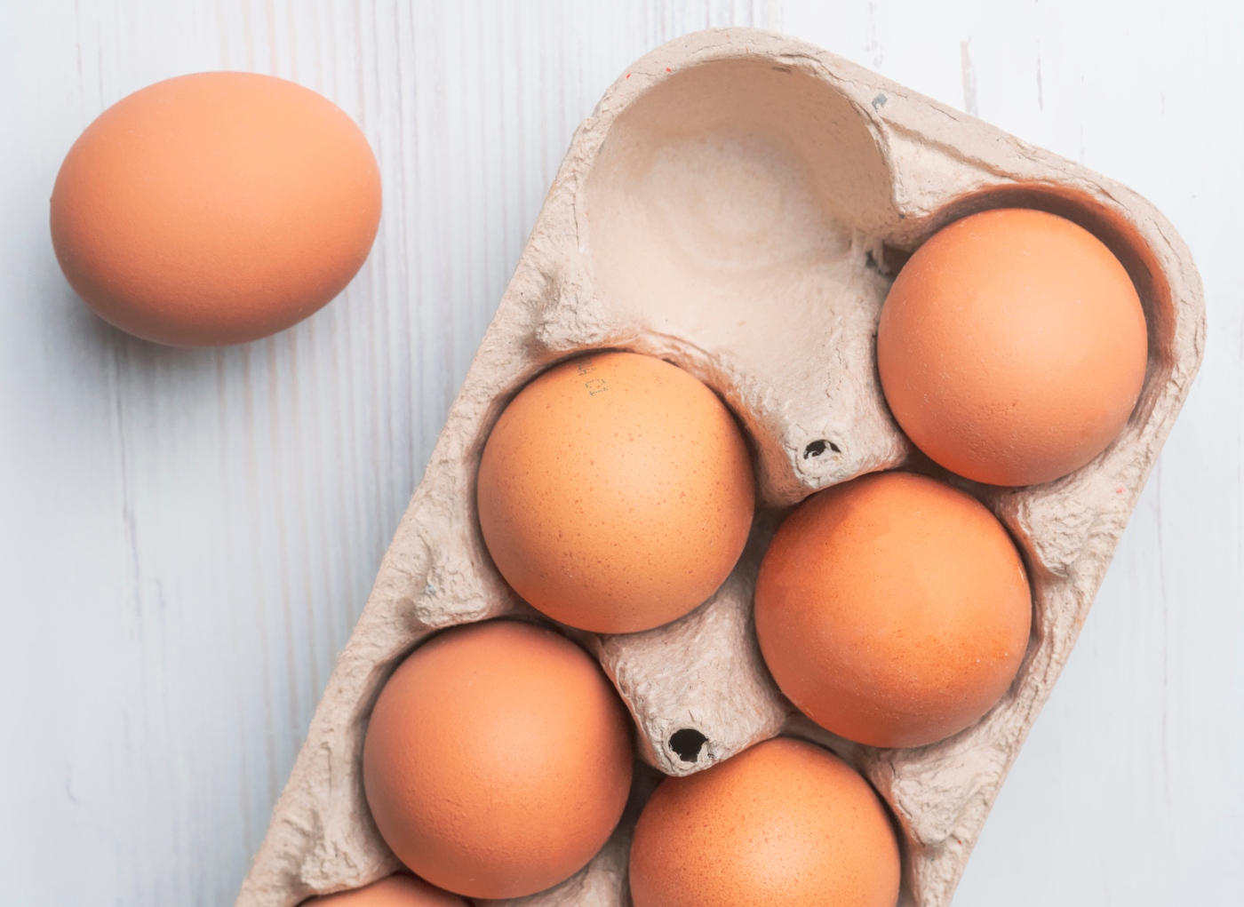 Caixa com ovos