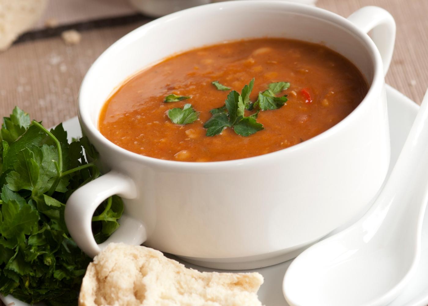 Sopa para bebés: sopa de feijão e agrião