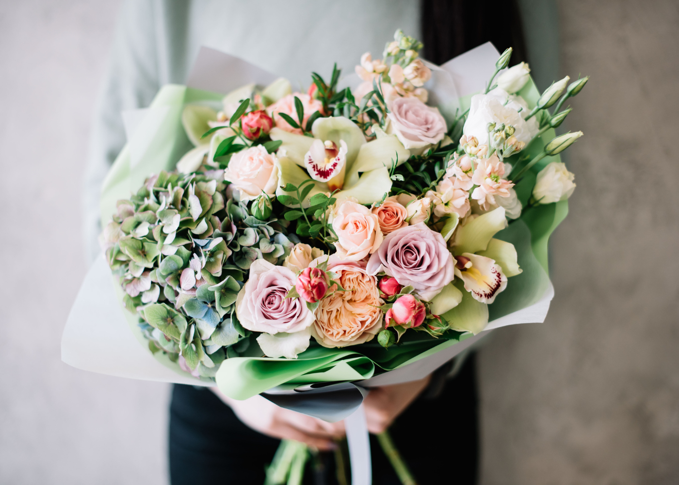 ramo de flores para a mãe