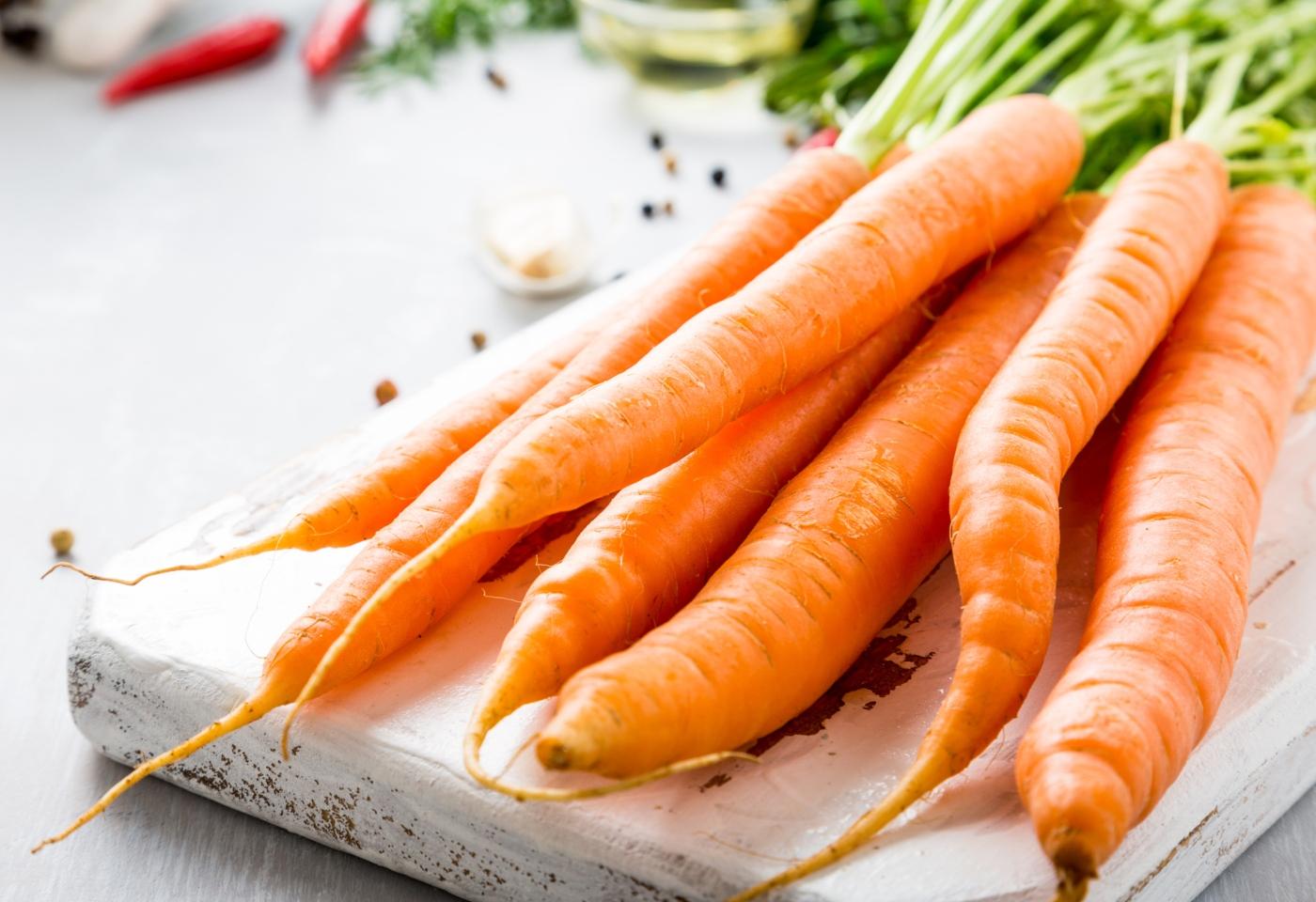 Alimentos que reduzem o risco de cancro: cenouras