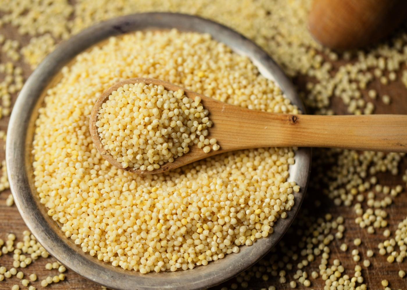 alimentos naturalmente sem glúten que substituem a farinha de trigo: millet