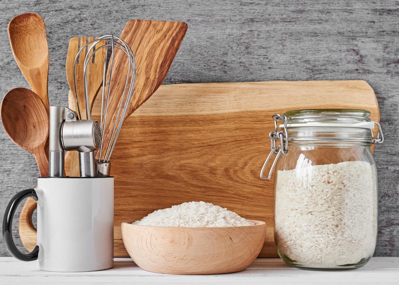 alimentos naturalmente sem glúten que substituem a farinha de trigo: arroz