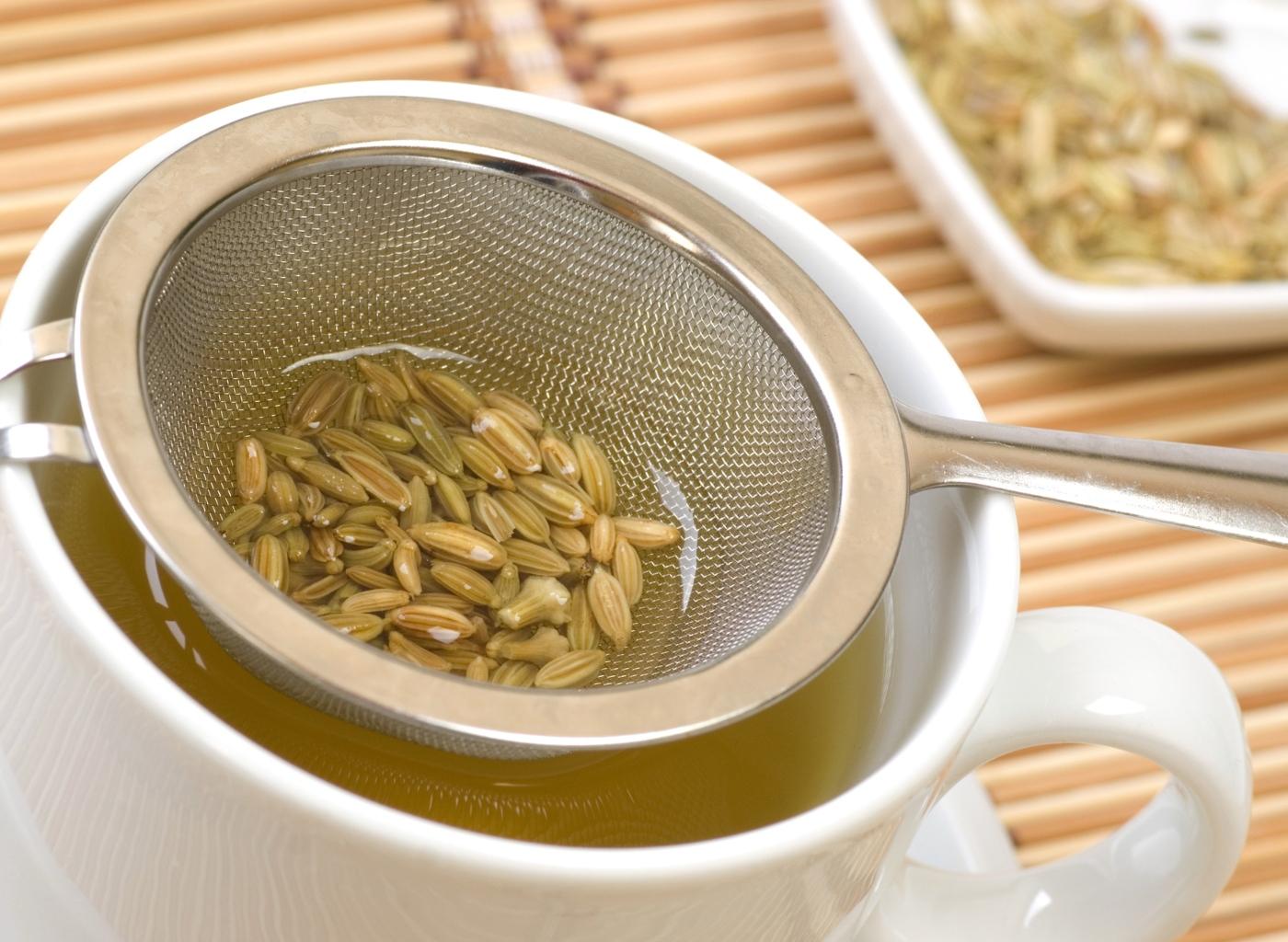 Alimentação do bebé: chá de funcho