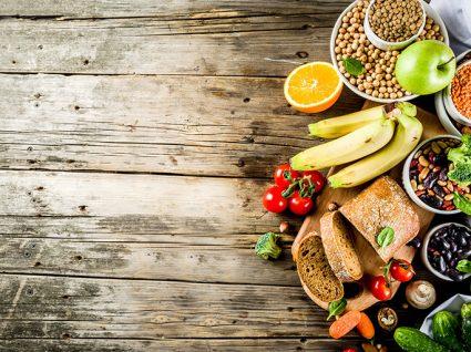 Variedade de alimentos para quem quer ser vegano
