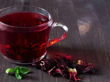Chás para a retenção de liquídos: hibisco