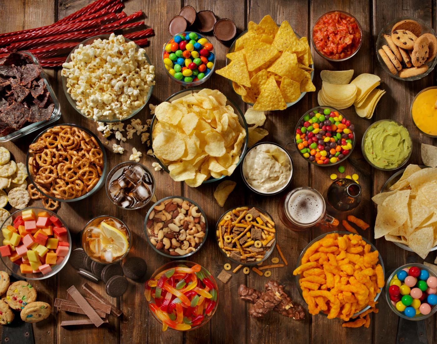 Variedade de junk food