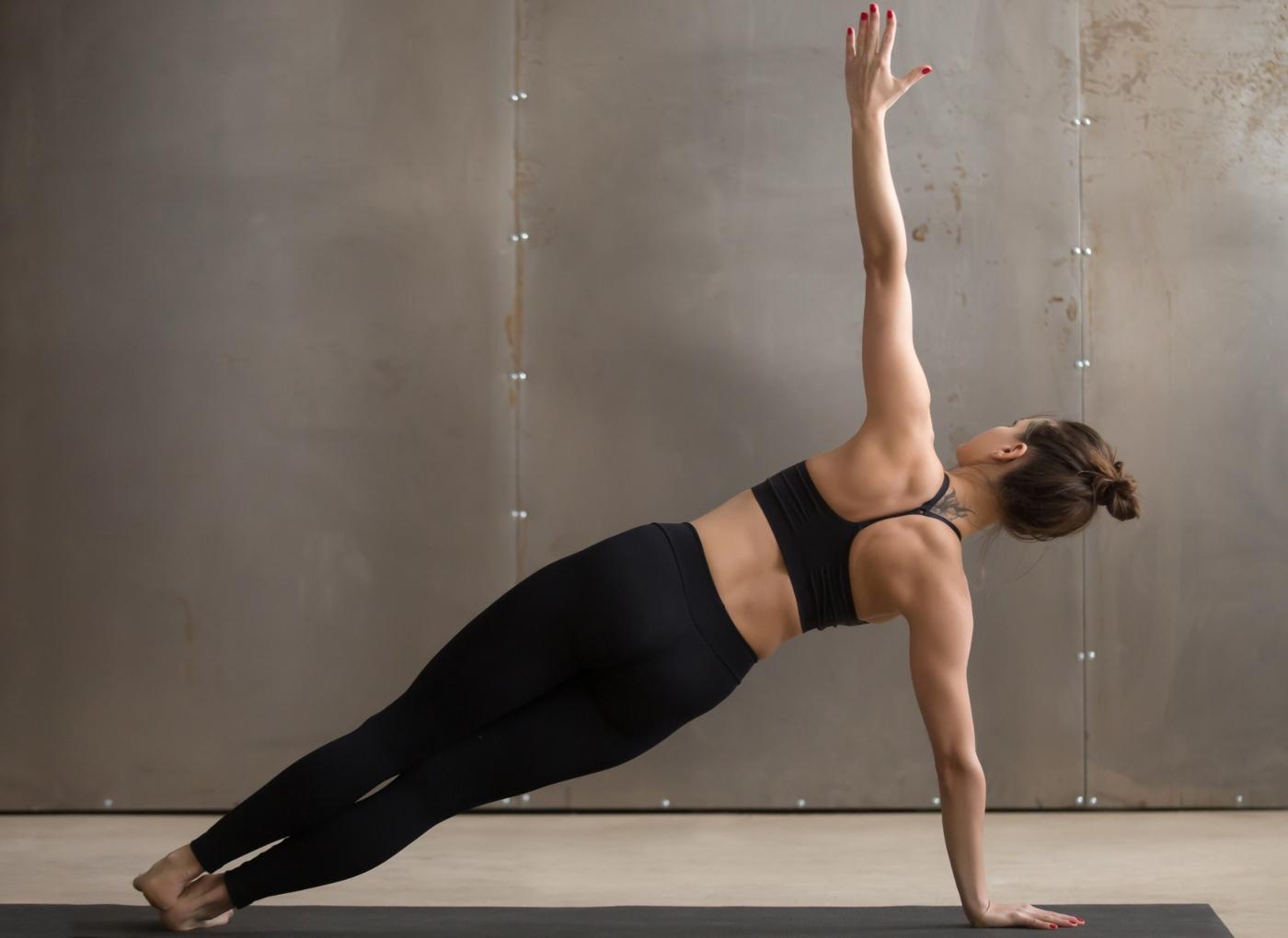 Exercícios para o core: prancha lateral