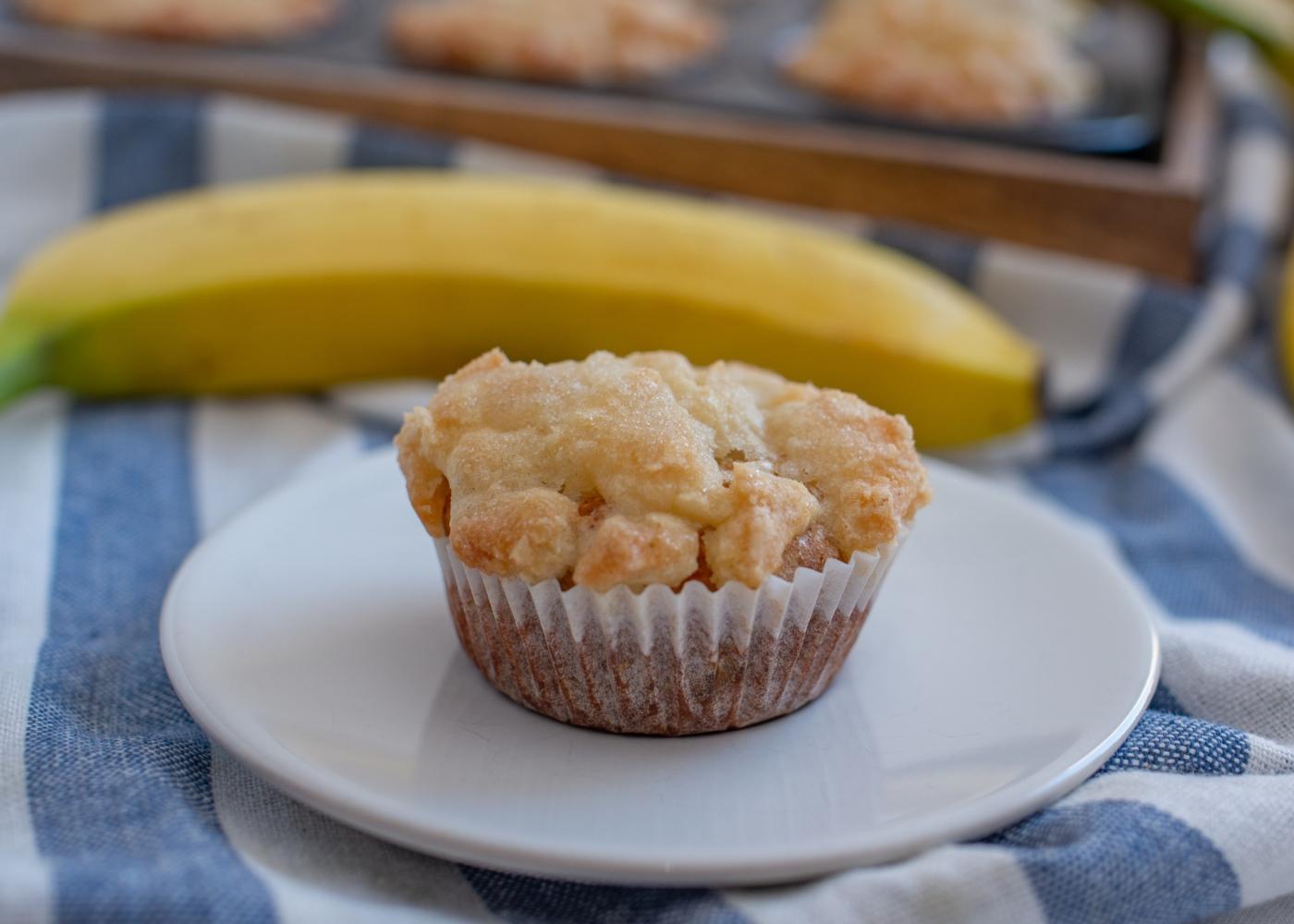 Queques de banana e maçã