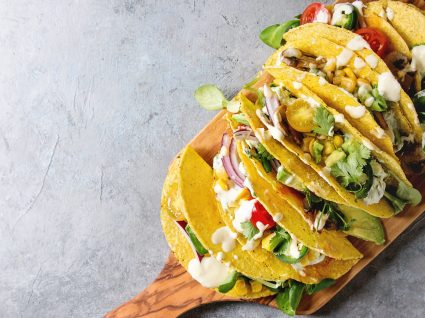 Tacos vegetarianos: receita mexicana sem carne (mas deliciosa)