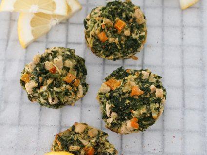 Receita de muffins de tofu e espinafres by Vanessa Alfaro