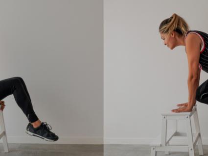 5 exercícios para fazer com uma cadeira (ou banco) by Vanessa Alfaro