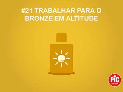 # 21 TRABALHAR PARA O BRONZE EM ALTITUDE