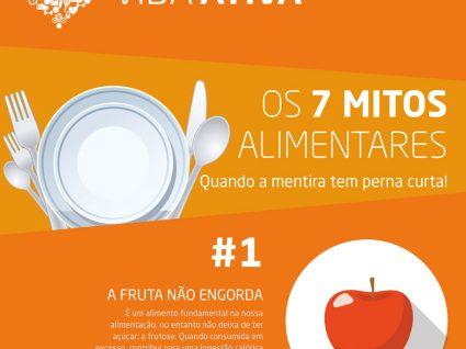 Os 7 mitos alimentares - Infográfico