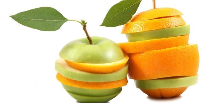 fatias de fruta