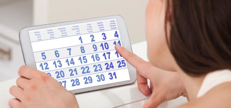 calendario em aplicacao do telefone