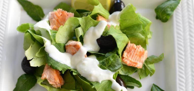 Saladas do mar e Salada do mar com molho de iogurte
