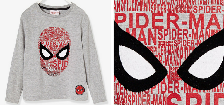 camisola homem aranha