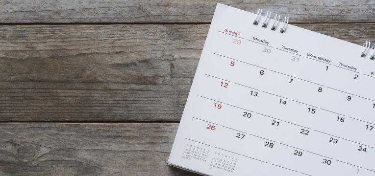 calendario plano de treino semanal