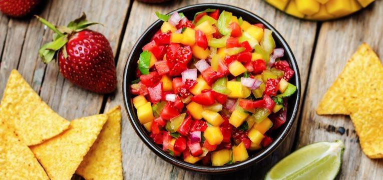 Receita de Salsa Vegan de Morango
