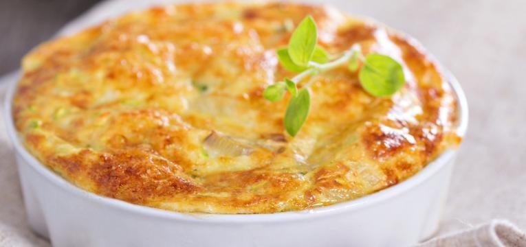 Sufle de espinafres com kefir