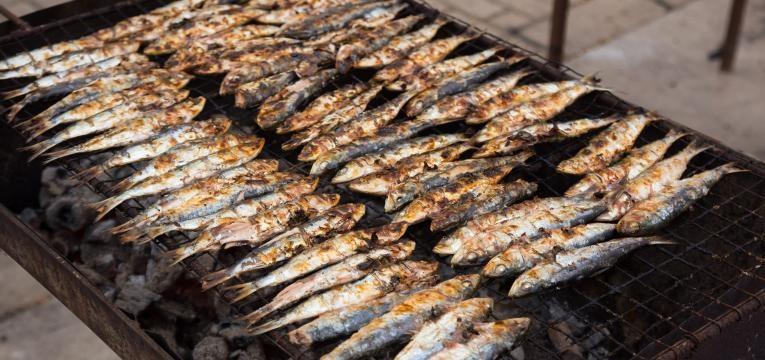 Receitas tipicas portuguesas e Sardinhas assadas na brasa