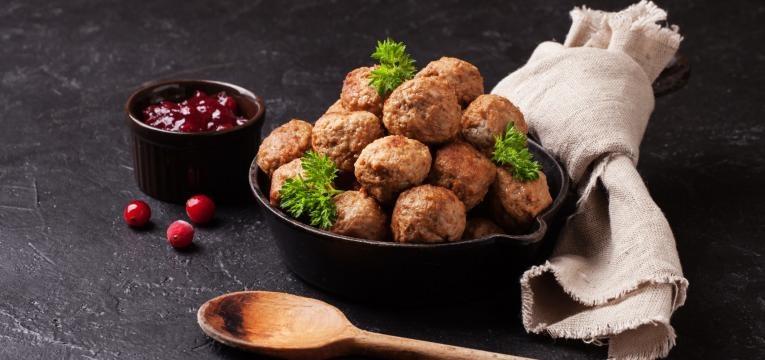 menu semanal saudavel e Almondegas de carne de vaca ao forno