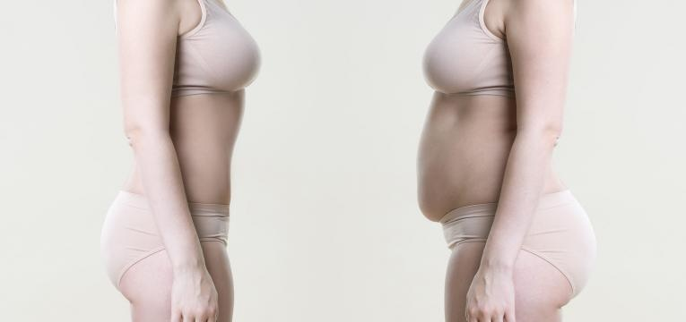 mulher com excesso de peso