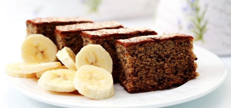 Bolo de banana vegan