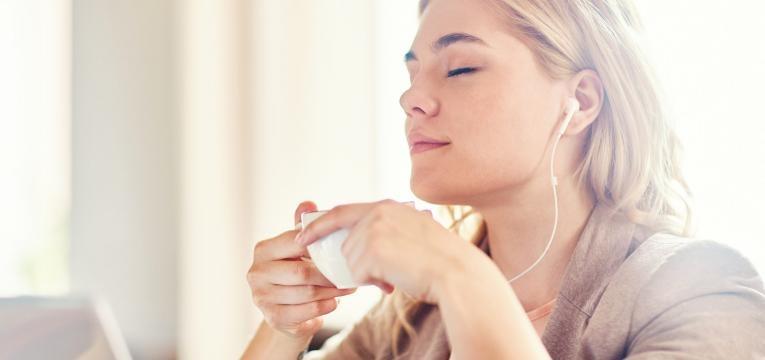 relaxar ao som da musica