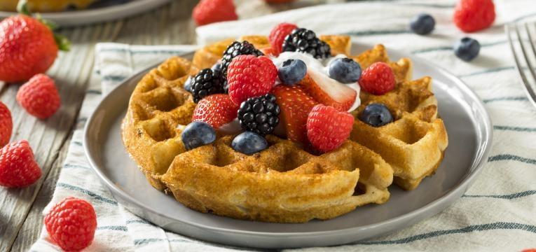 Waffles vegan integrais