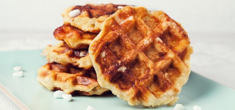 Waffles vegan de abacate e farinha de arroz