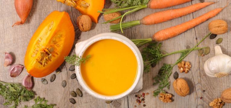sopa de abobora e cenoura
